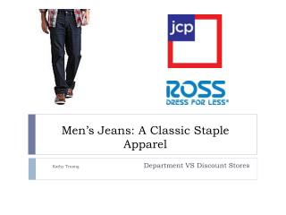 Men's  Jeans: A Classic Staple Apparel