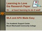 Learning to Love the Research Paper  Or  at least learning to do it well
