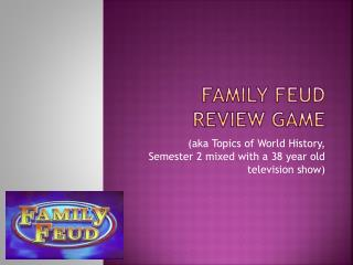 Family Feud Review game