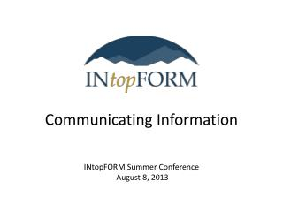 Communicating Information