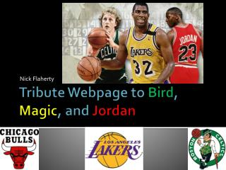 Tribute Webpage to  Bird ,  Magic , and  Jordan