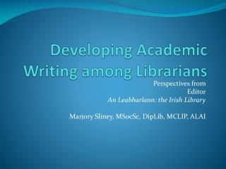 Developing Academic Writing among Librarians