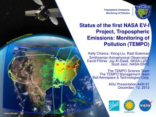 Status of the first NASA EV-I Project, Tropospheric Emissions: Monitoring of Pollution (TEMPO)