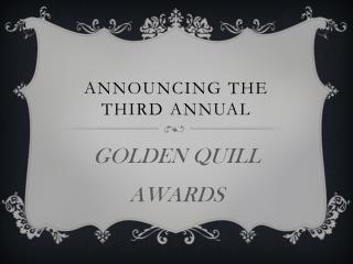 Announcing the third annual