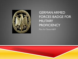 German Armed Forces Badge for Military Proficiency