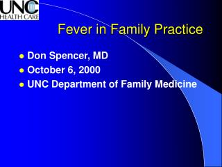 Fever in Family Practice