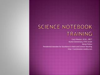 Science notebook training