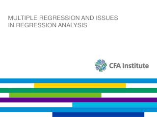 Multiple regression and issues in regression analysis