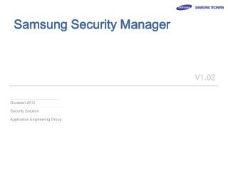 Samsung Security Manager