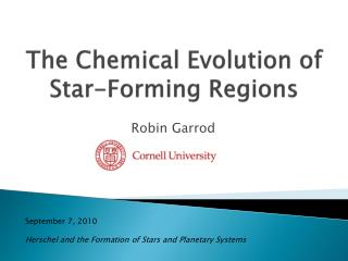 The Chemical Evolution of Star-Forming Regions