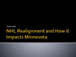 NHL Realignment and How it Impacts Minnesota