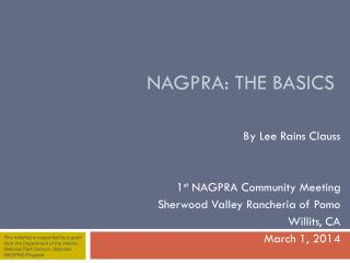 NAGPRA: the basics