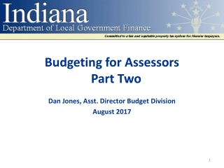 Budgeting for Assessors Part Two