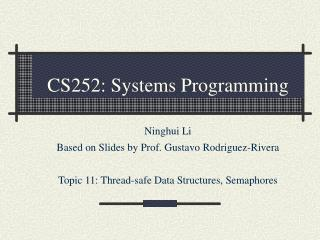 CS252: Systems Programming