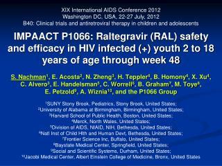 XIX International AIDS Conference 2012 Washington DC, USA, 22-27 July, 2012