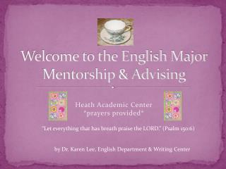 Welcome to the English Major Mentorship & Advising