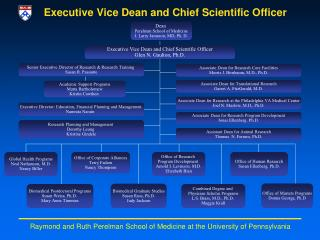 Executive Vice Dean and C h ief Scientific Officer
