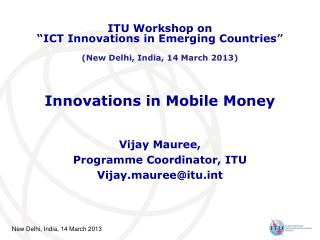 Innovations in Mobile Money