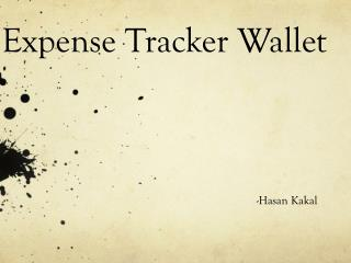 Expense Tracker Wallet