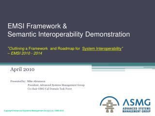EMSI Framework  Semantic Interoperability Demonstration ...