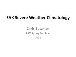 EAX Severe Weather Climatology