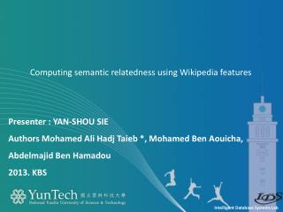 Computing semantic relatedness using Wikipedia features