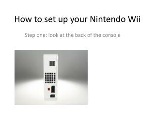 How to set up your Nintendo Wii