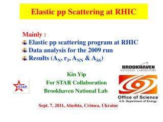 Elastic pp Scattering at RHIC