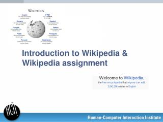 Introduction to Wikipedia & Wikipedia assignment