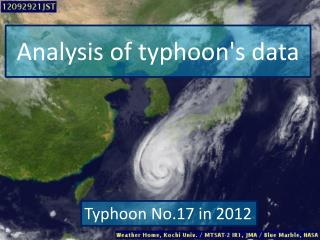 Analysis of typhoon's data