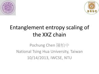 Entanglement entropy scaling of the XXZ chain