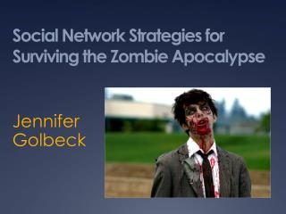 Social Network Strategies for Surviving the Zombie Apocalypse