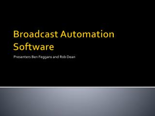 Broadcast Automation Software