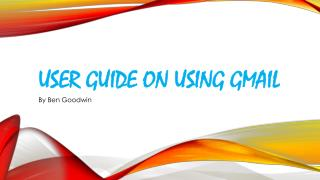 User Guide on using Gmail