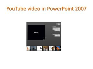 YouTube video in PowerPoint 2007