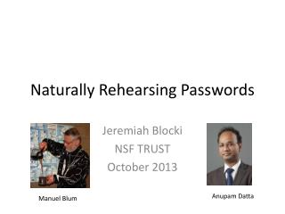 Naturally Rehearsing Passwords