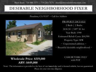 Desirable neighborhood Fixer