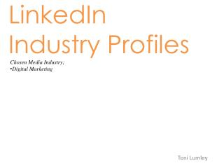 LinkedIn Industry Profiles