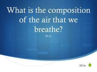 What is the composition of the air that we breathe?