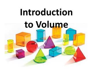 Introduction to Volume