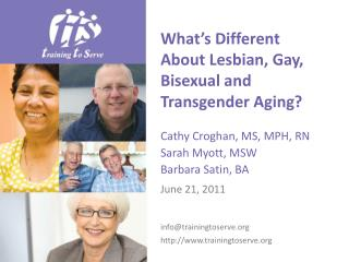 What's Different About Lesbian, Gay, Bisexual and Transgender Aging?
