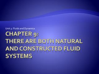 Chapter 9: There are both natural and constructed fluid systems
