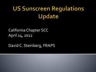 US Sunscreen Regulations Update