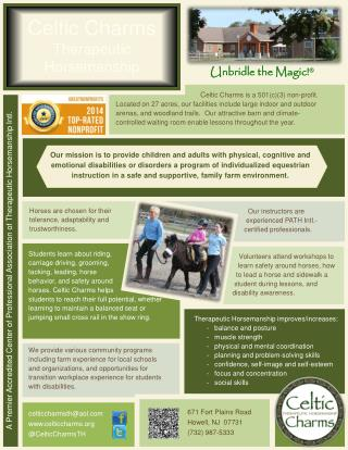 A Premier Accredited Center  of  Professional Association of Therapeutic Horsemanship Intl.