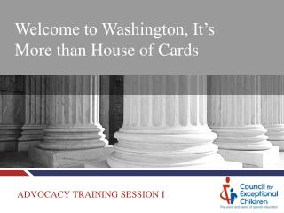 Welcome to Washington, It's More than House of Cards