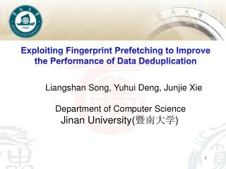 Department of Computer  Science Jinan  University( 暨南大学 )