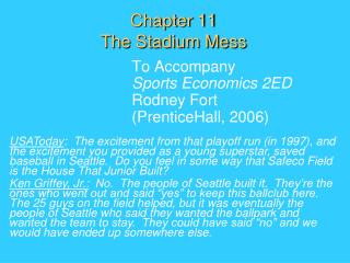 Chapter 11 The Stadium Mess