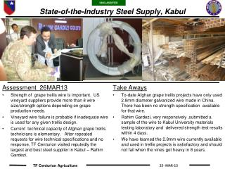State-of-the-Industry Steel Supply, Kabul