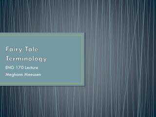 Fairy Tale Terminology