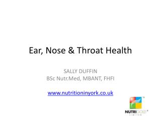 Ear, Nose & Throat Health
